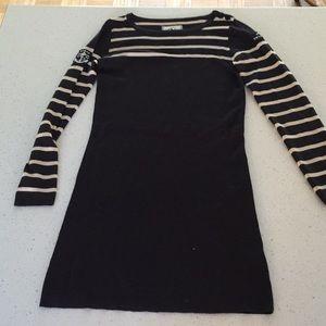 Aigle merino wool mariner stripe sweater dress s